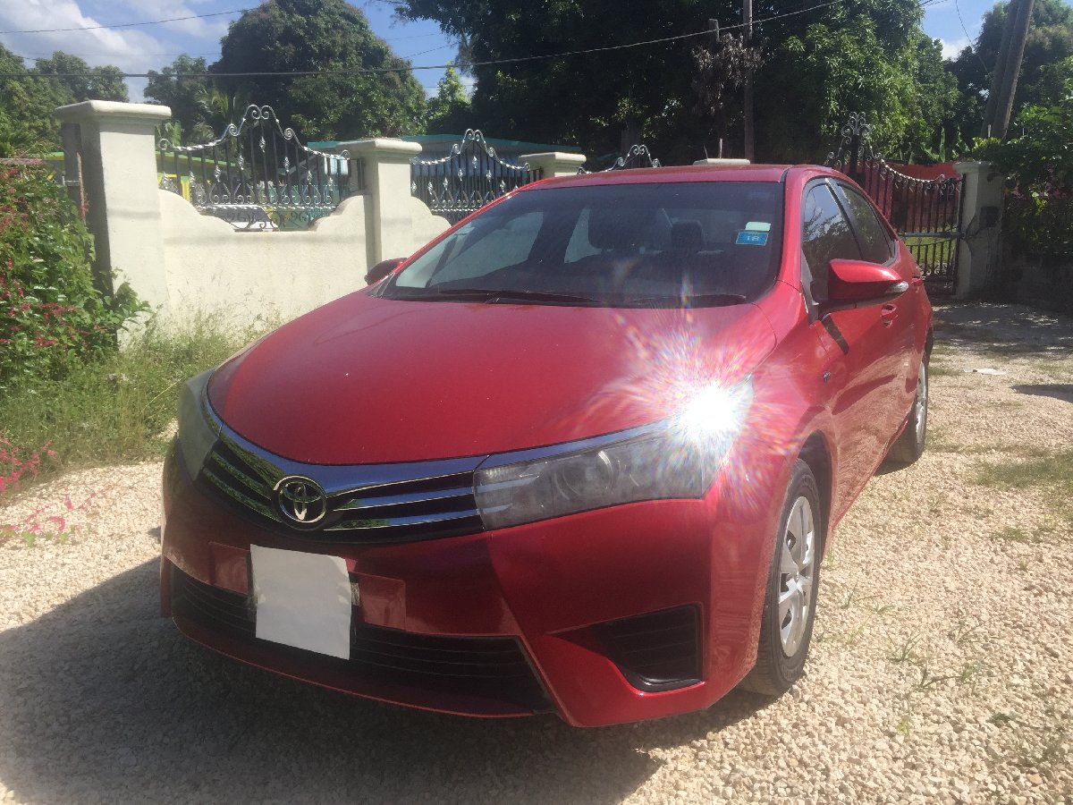 2014 toyota corolla red for sale in portmore st catherine
