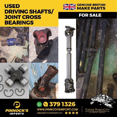 USED DRIVING SHAFTS / JOINT CROSS BEARINGS