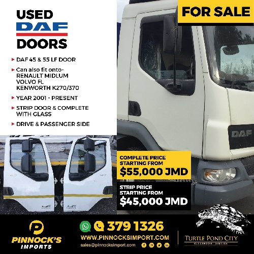 USED DAF DOORS