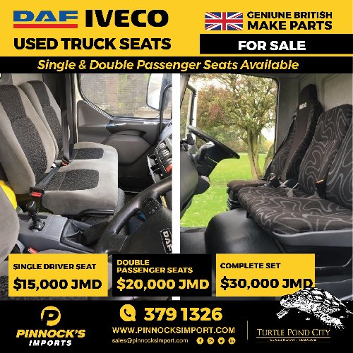 fcae8fa1068c8 USED DAF IVECO TRUCK SEATS Auto Parts Available To View In Clarendon And St  Catherine