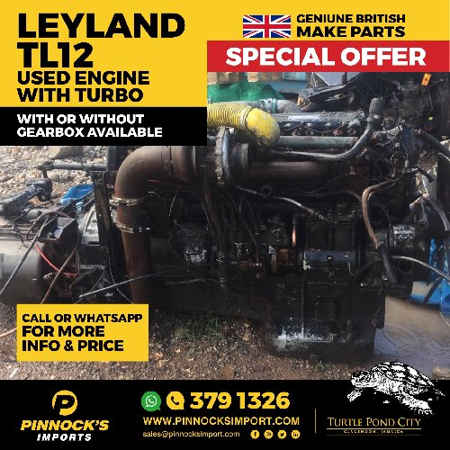 0c6f043468a37 LEYLAND TL12 USED ENGINE WITH TURBI Auto Parts Available To View In  Clarendon And St Catherine