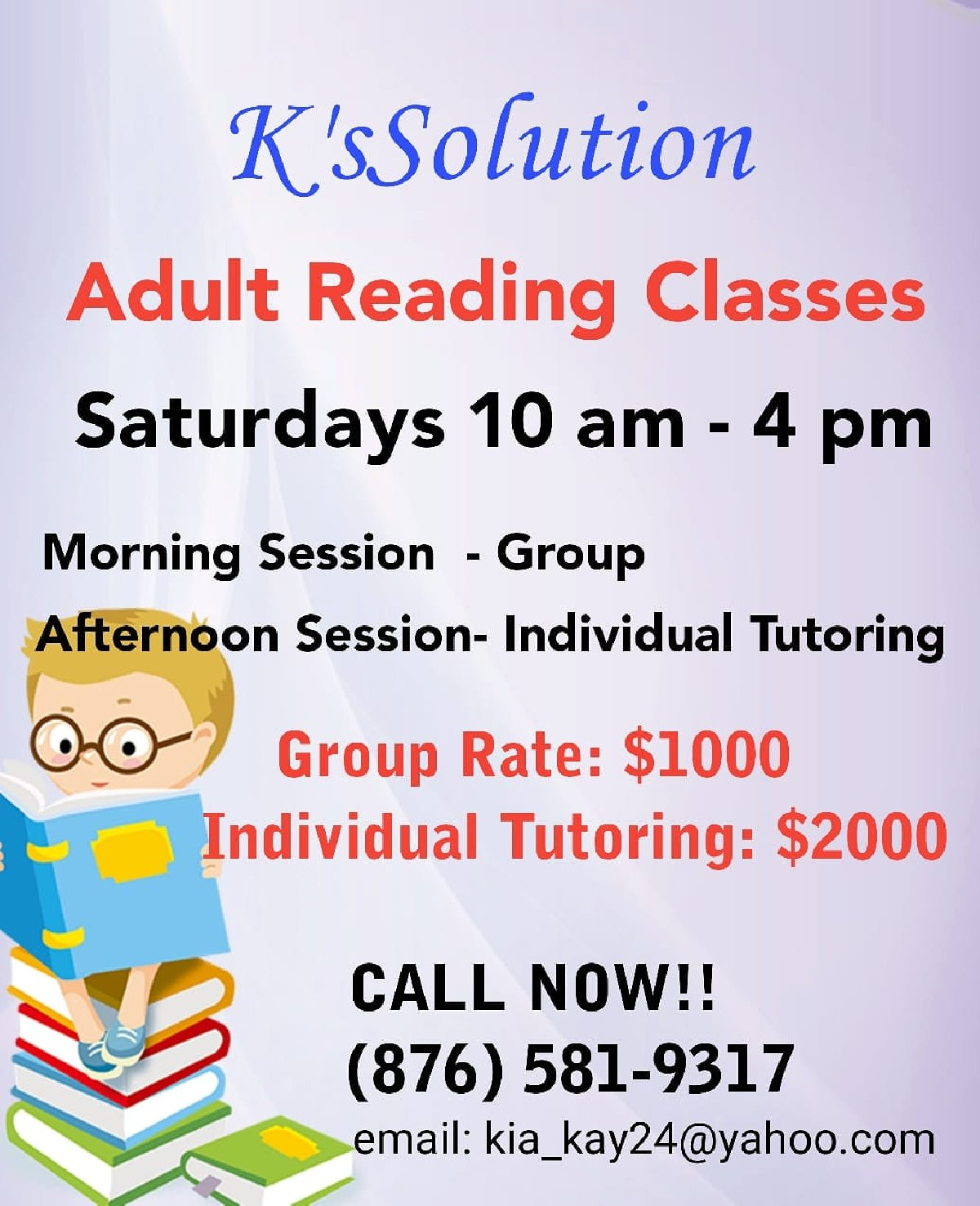 Adult reading classes, thick yellow sperm