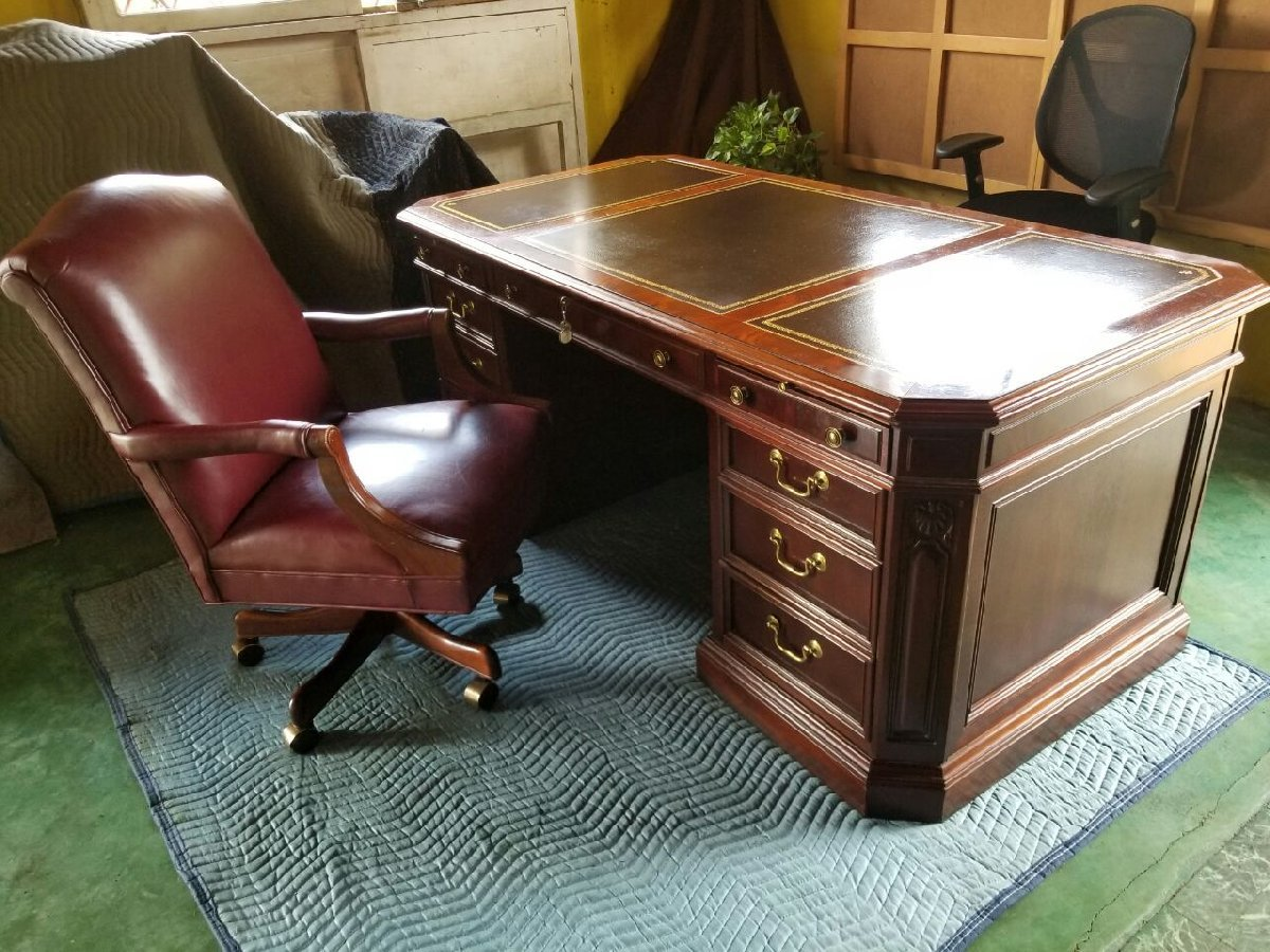 Home Office Furniture Michigan: Holland Michigan Sligh Mohagany Desk For Sale In Linstead