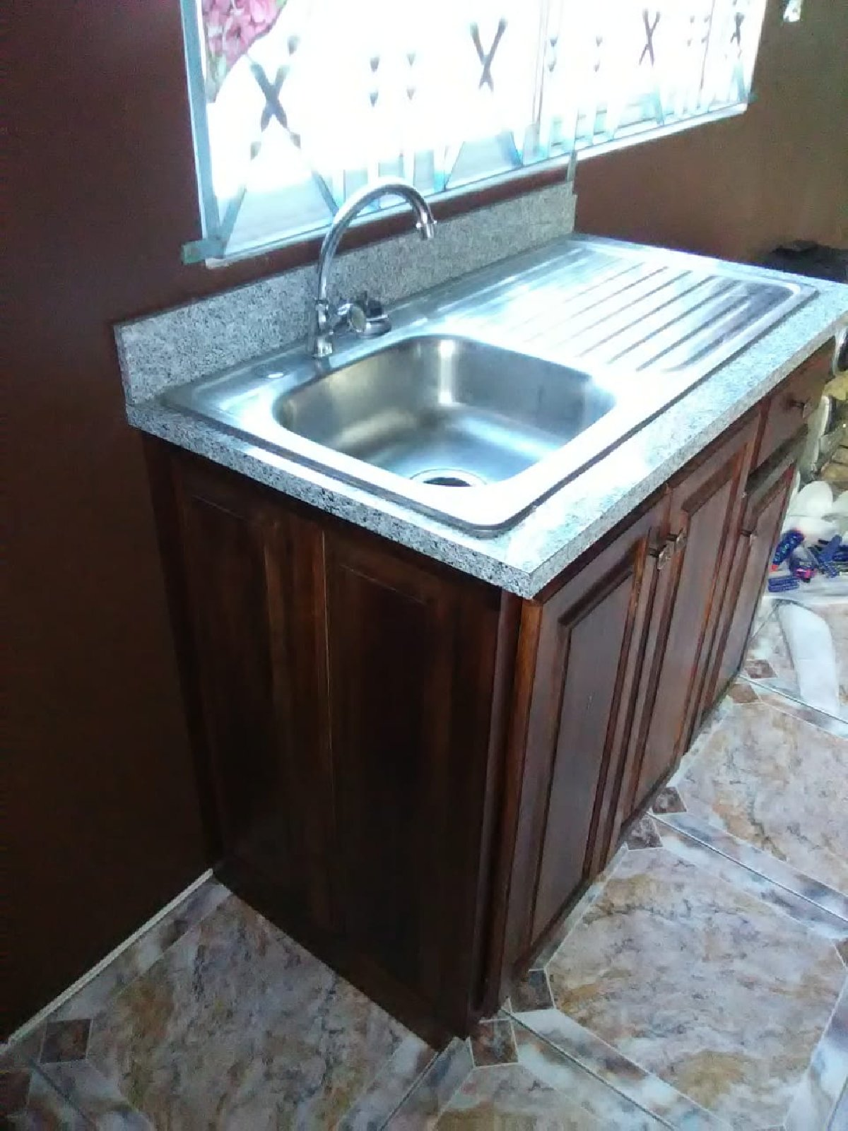 Ready Made Cedar Wood Kitchen Cupboard With Sink For Sale In Portmore St Catherine Furniture