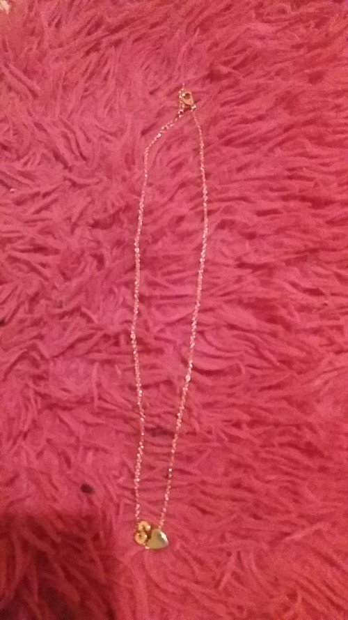 Initials gold Necklace available only in S and M