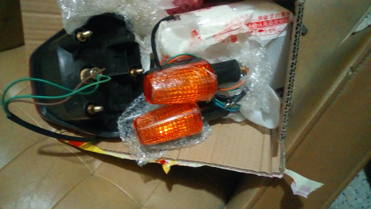 honda cbx 250 twister tail light and indicator