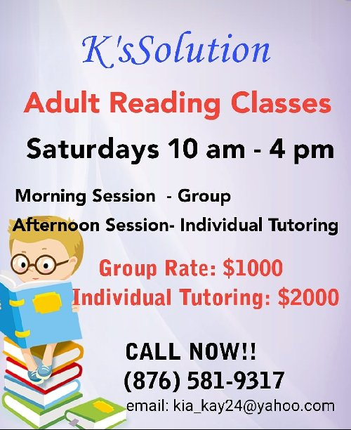 Adult Reading Classes