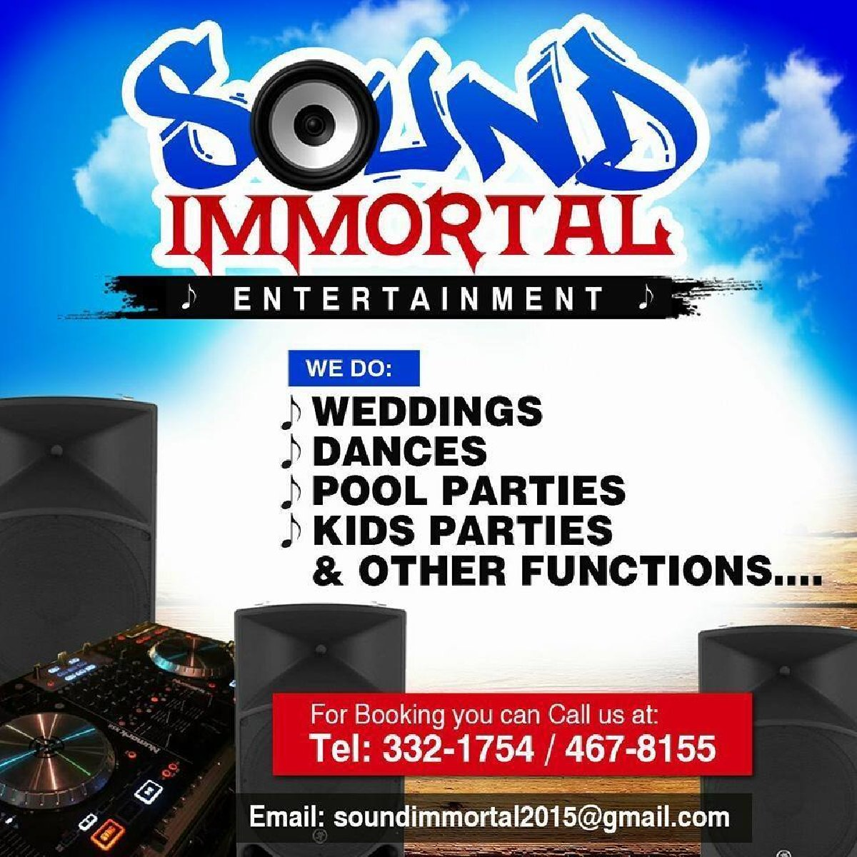 Professional Sound System For Rent With/without DJ in