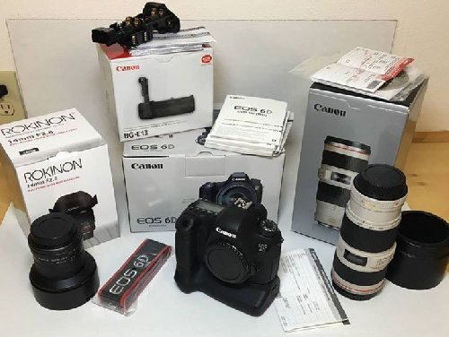 Canon EOS 6D Mark II DSLR Camera 24-105mm IS STM L
