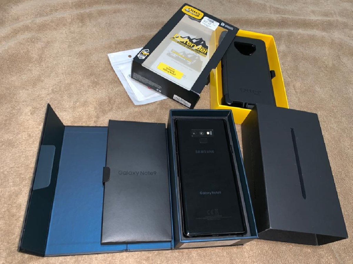 Samsung Galaxy Note 9 + Otterbox Defender Case for sale in Half Way