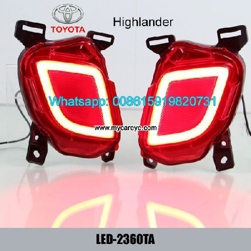 Toyota Highlander LED Rear Bumper Brake Turn Signa