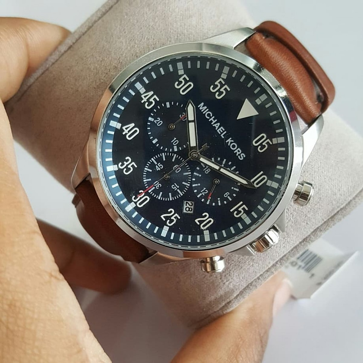 8f12230d4a0e Authentic Michael Kors men's gage brown watch for sale in Portmore ...