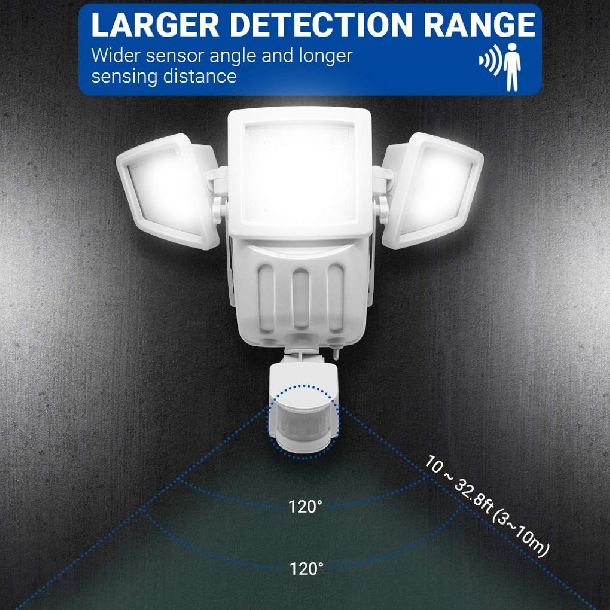 Head Motions Offer Better Way To Detect >> Triple Head Solar Motion Detection Light For Sale In Half Way Tree
