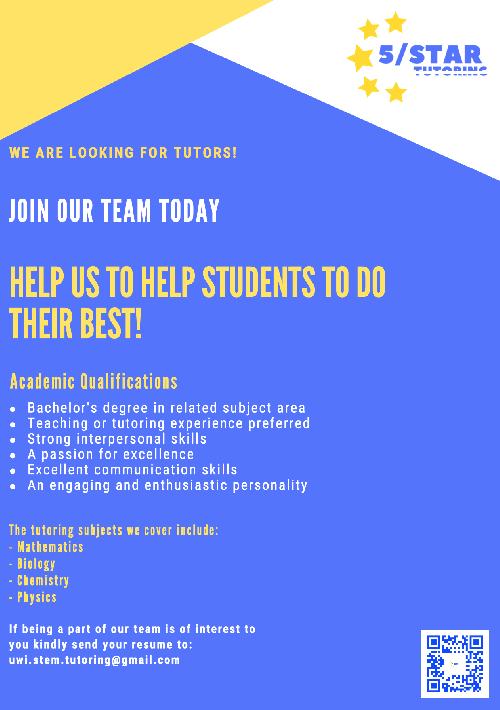 Tutoring/Teaching Positions
