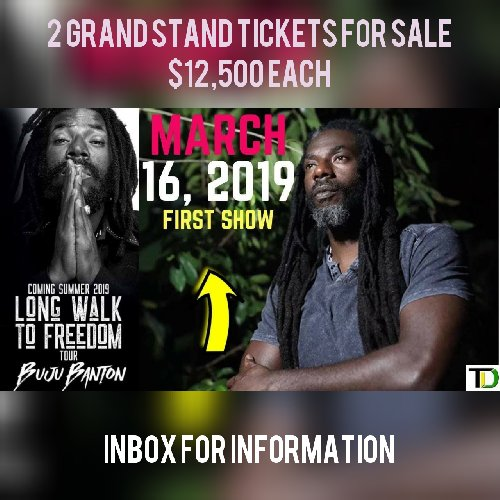 Buju Concert Grand Stand Tickets