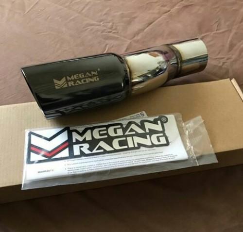 Genuine megan racing black chrome exhaust