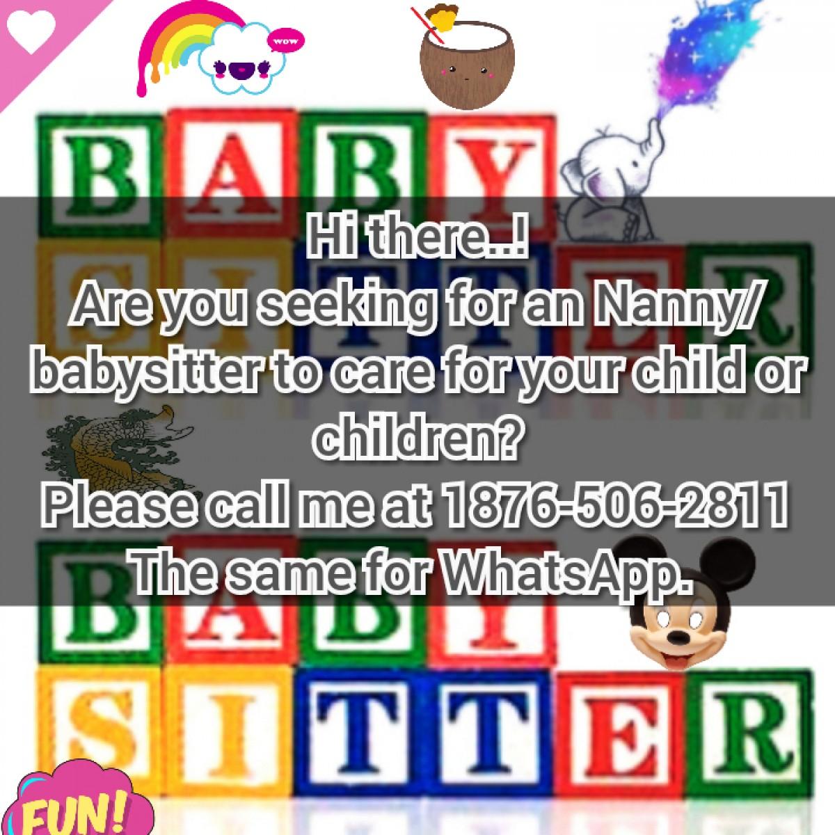 nanny   babysitter for sale in red hills kingston st andrew
