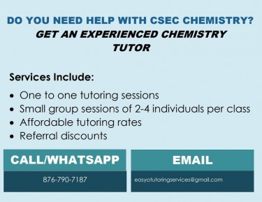 Chemistry Tutoring Service