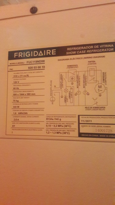 11 Cu Ft Frigidaire Standing Cooler For Sale