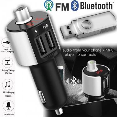 Bluetooth Car FM Transmitter Wireless Radio Adapte