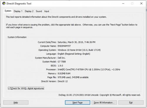 Dell G7 - 7588 (2018 Version)