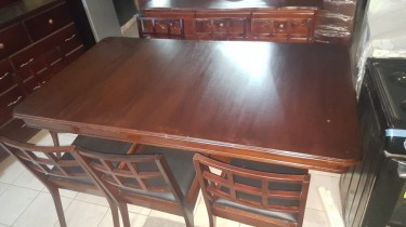 Beautiful Mahogany Dining Set For Sale