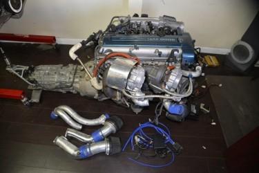 Toyota Supra HKS Twin Turbo 6 Speed VVTI Engine 2J