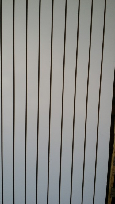 Brand New Slat Wall With Aluminium Strips (White)