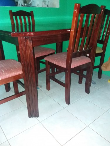 Dining Table Set- (Single Bed & Loveseat Below)