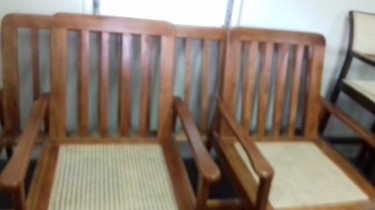 Beautiful Wooden Patio Set For Sale