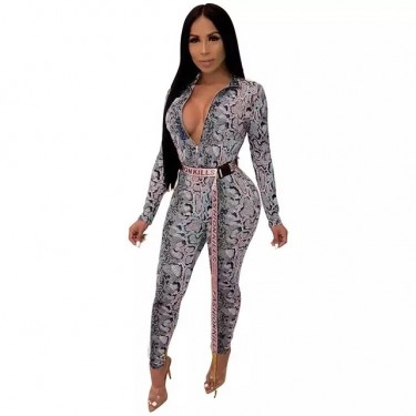 Snake Print Bodysuit  Large