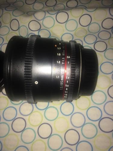 Rokinon 85mm T1.5 Cin Lens For Canon. All Manual