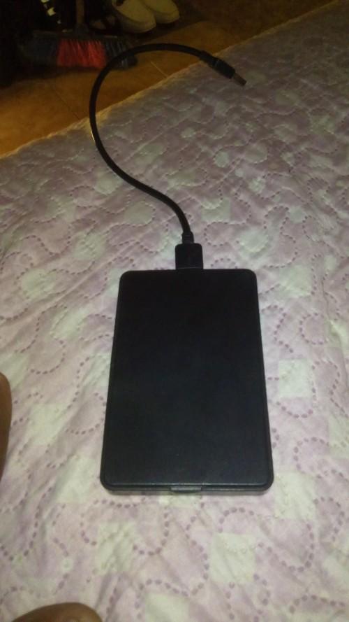 160g harddrive  with portable harddrive holder