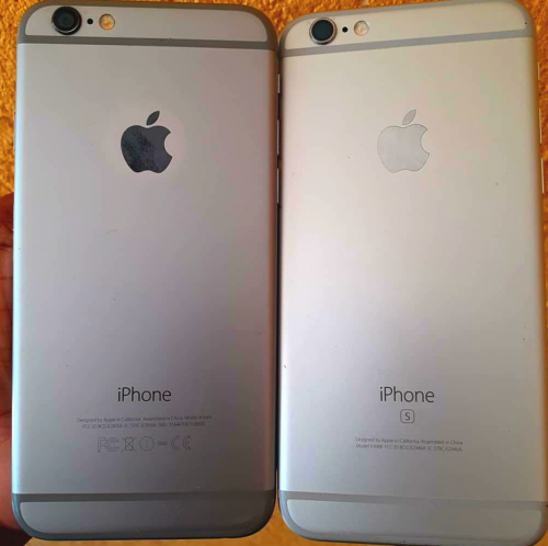 iPhone 6 and iPhone 6s together