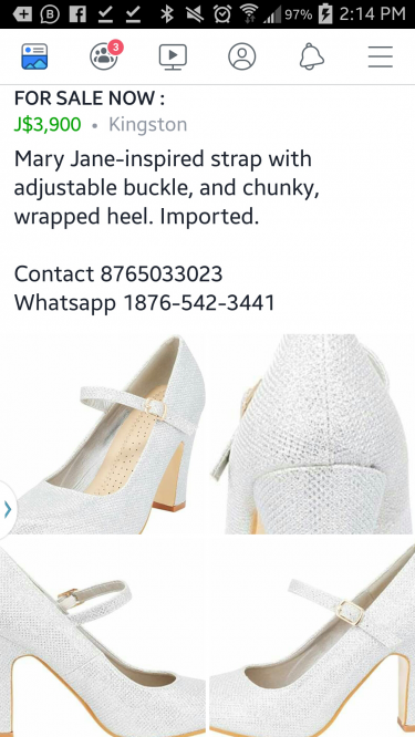 Women\\\'s Classic Mary Jane Chunky Block High Heel H