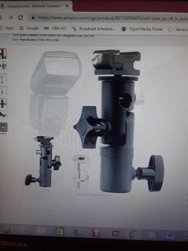 Swivel Head Light Stand Bracket /Adapter