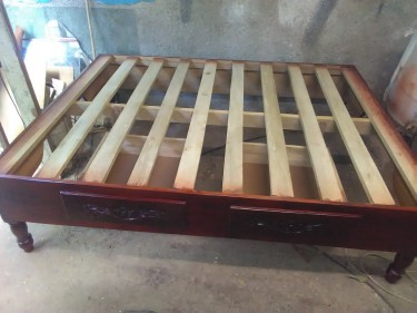 Queen Size Bed Base With Two Drawers
