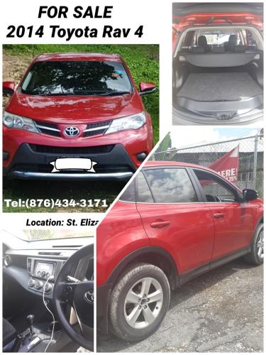 2014 Red Toyota Rav 4