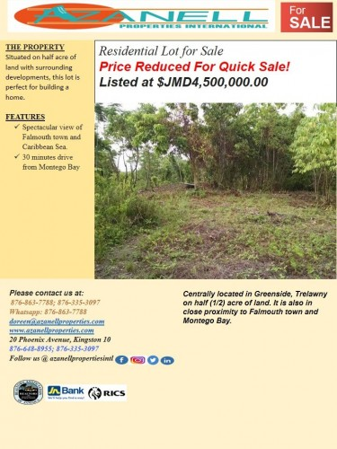 1/2 Acre Residential Lot With View Of Falmouth