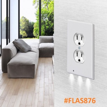 LED Photosensitive Wall Socket Covers (2 Types)