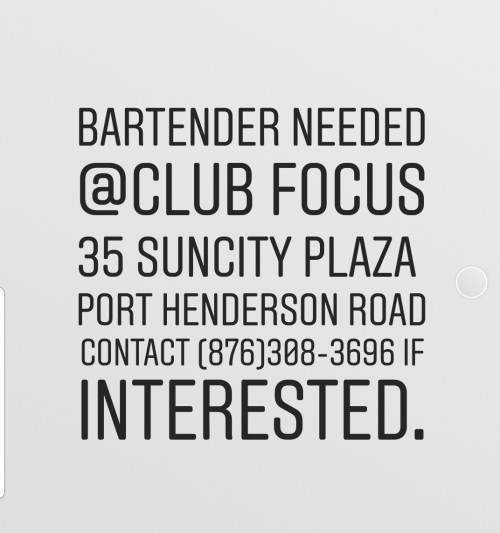 Bartender Needed Asasp!! Serious Inquiries Only.
