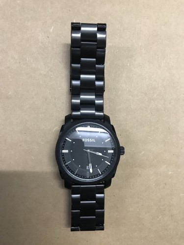 New Fossil Watch Men Matte Black Stainless Steel