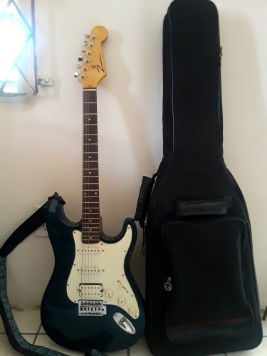 Fender Electric Guitar With Case And Pick