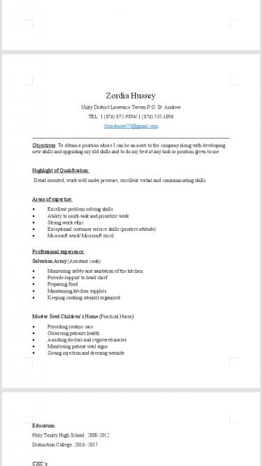 Seeking An Full Time Job