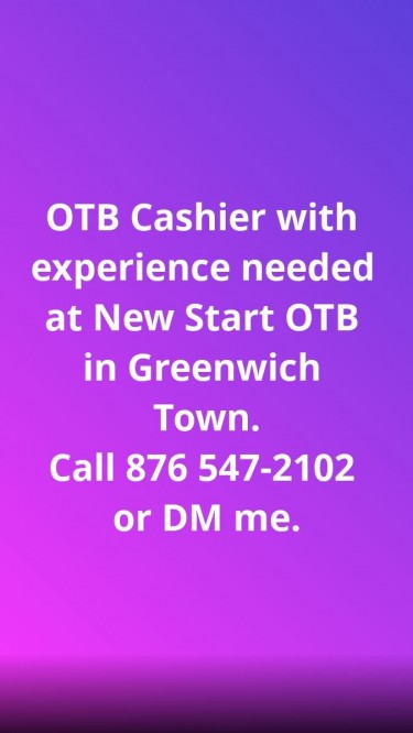 OTB Cashier With Experience