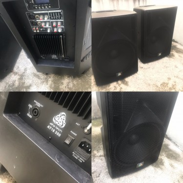 Powered 18 Speakers With Horn (With Bluetooth)