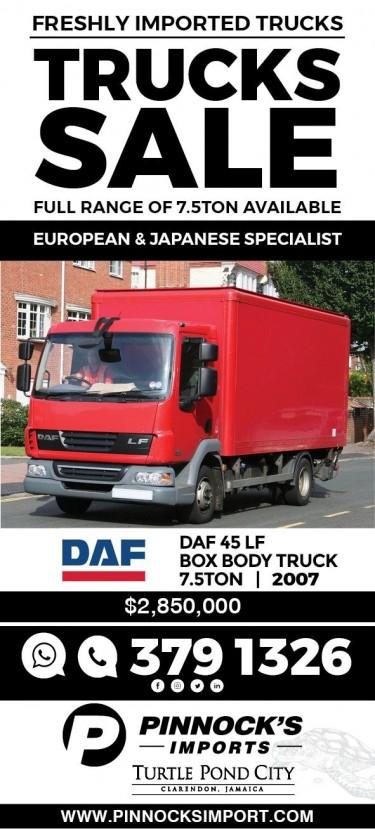 DAF 45LF BOX BODY TRUCK 2007