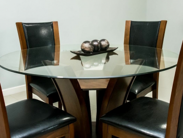 Glass Top Dinning Table (ONLY)