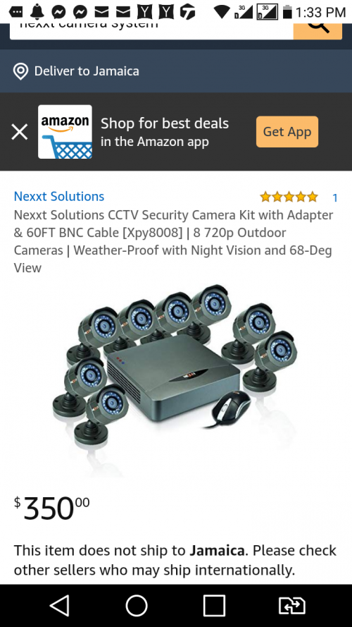 Nexxt 8 Channel HD Camera System
