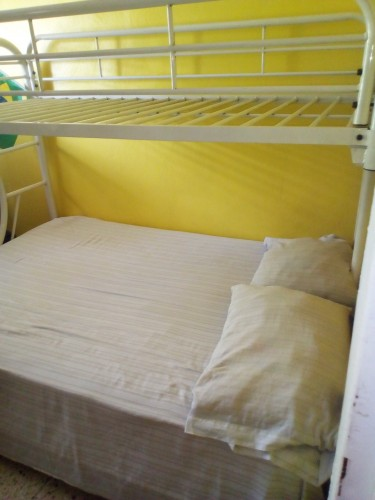 Double Three Quarter Bunk Bed( No Mattress)